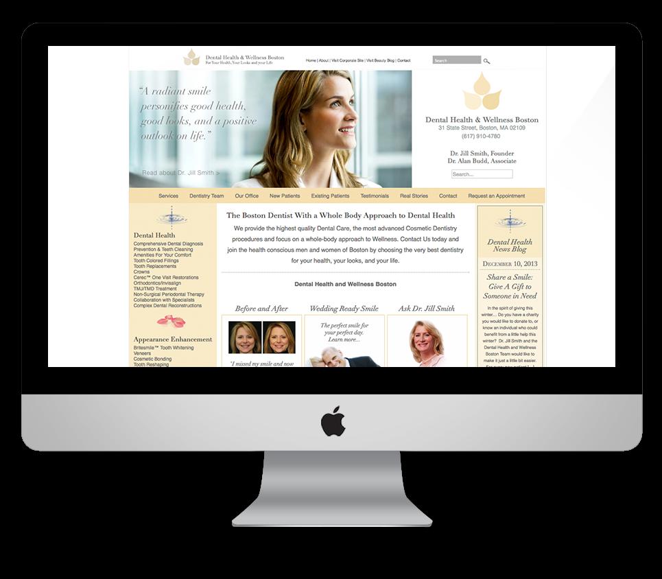 Dental Health and Wellness Web Design