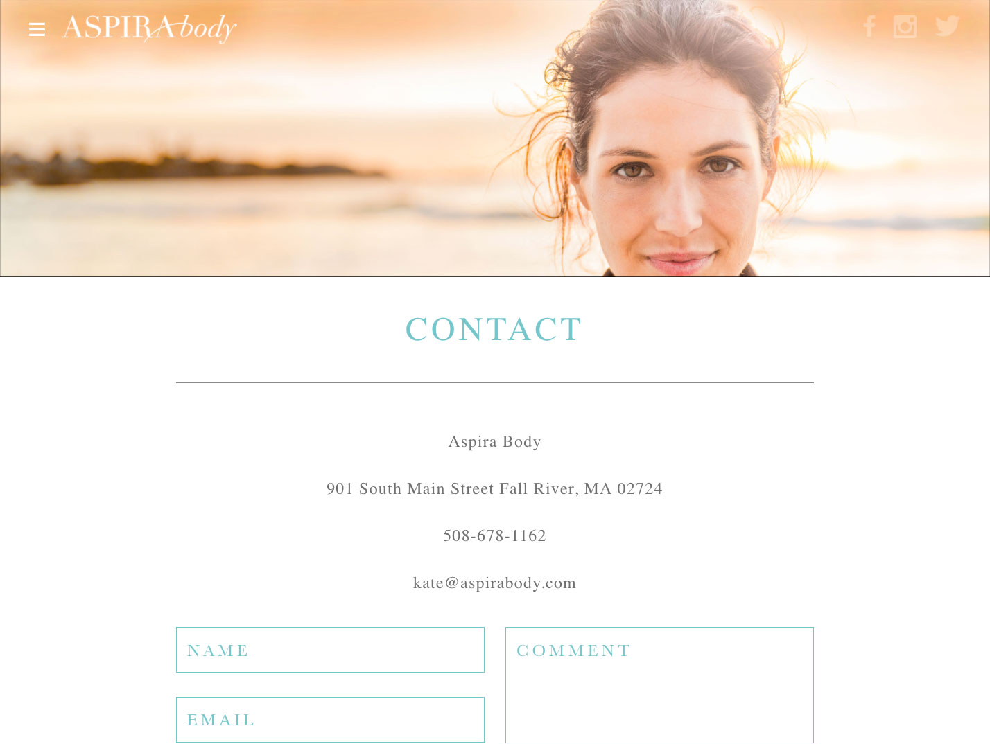 Aspira Contact Page